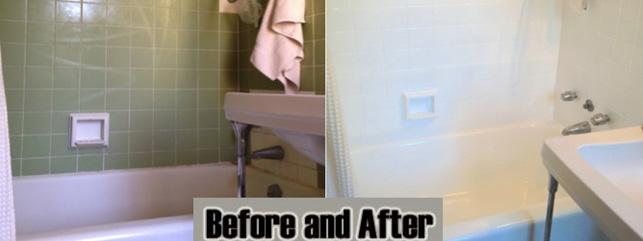 Tile resurfacing job by Dr Tubs Reglazing