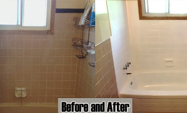 Tile refinishing project by Dr Tubs Reglazing